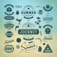 typography templates summer design elements and typography design retro and vintage