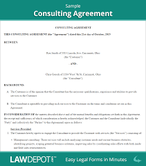 012 Sample Consulting Agreement Contract For Services