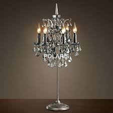 exotic chandelier desk lamp factory modern vintage crystal candle lighting rustic table lamp desk lights