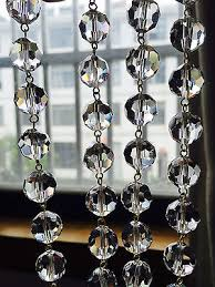 1m 3 3ft clear crystal k9 glass chandelier beaded chain wedding decoaration 14mm unique gifts