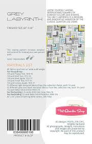 Labyrinth Quilt Pattern Free Interesting Grey Labyrinth Downloadable PDF Quilt Pattern Zen Chic Fat Quarter