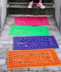 rubber mat décor spruce up your patio with rubber mats spray painted in bright colors