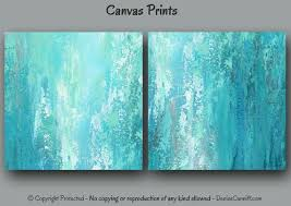 turquoise office decor. large abstract wall art designed for turquoise aqua and teal home or office decor by denise