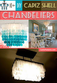 diy capiz shell chandeliers