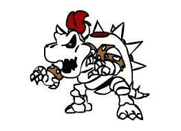 Bowser Coloring Pages Dry Colouring Page 2 Paper Mario