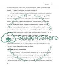 reduction of carbon dioxide emissions essay example topics and  reduction of carbon dioxide emissions essay example