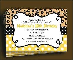 Leopard Print Birthday Invitations Party Invitation Free