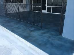 Home Blue Stained Concrete Patio Interesting Throughout Home Blue
