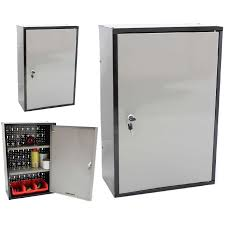Metal storage cabinets with doors Garage Details About Lockable Metal Garageshed Storage Cabinet Wall Unit Toolpaint Locking Cupboard Ebay Lockable Metal Garageshed Storage Cabinet Wall Unit Toolpaint