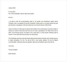 Re mendation Letter for High School Student from Sports Teacher