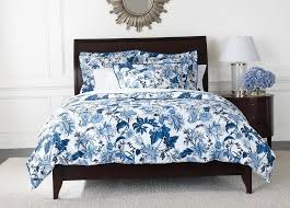 blue and white fl duvet cover