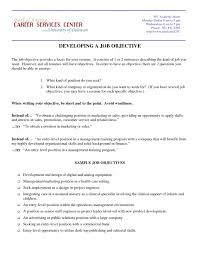 Examples Of A Resume Objective 76 Images Part Best Career Objectives