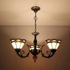 Günstig Tiffany Kronleuchter Antik Landhaus Stil 3 Flammig
