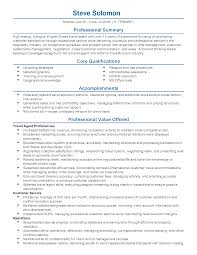 Entry Level Sales Associate Resumes Professional Summary On Resume Examples Statements For