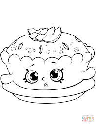 Small Picture Apple Pie Shopkin coloring page Free Printable Coloring Pages