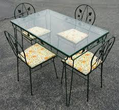 glass vintage glass top porch tables