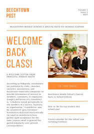 Welcome Back To School Letter Templates Back To School Newsletter Welcome Back To School Newsletter Template