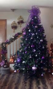 purple christmas tree decorations purple tree purple heart christmas tree  ornament