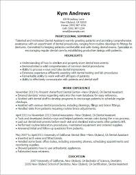 Dental Assistant Resume Template Fascinating Sample Dental Assistant Resume Inspirational Dental Assistant Resume