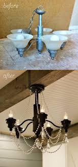 easy diy chandelier transformation