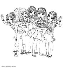 Small Picture Coloring pages for girls Lego Friends