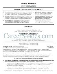 Example Teacher Resumes Substitute Teacher Resume Examples ...