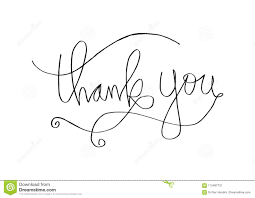 Thank You Cursive Font Thank You Hand Lettering Stock Vector Illustration Of