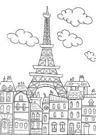 Small Picture Eiffel Tower Coloring Pages and Book UniqueColoringPages kids