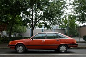 OLD PARKED CARS.: 1984 Toyota Camry LE Liftback.