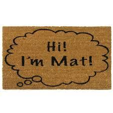 Decorating coir door mats pics : Rubber-Cal 'Hi I'm Mat' Coir Outdoor Door Mat - Free Shipping On ...