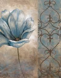 fleur bleue ii painting vivian flasch fleur bleue ii art painting