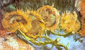 four cut sunflowers painting vincent van gogh four cut sunflowers art painting