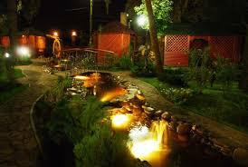 Освещение загородного дома и сада
