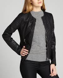 Members Only black quilted 'Scuba' faux leather trim jacket &  Adamdwight.com