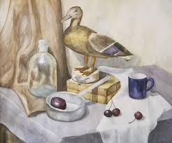 ДХШ Дипломные работы  Чайный натюрморт 2012 г Акварель преп Онуприенко Т М