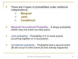 Types Of Probability Fundamentals Probability 08072009
