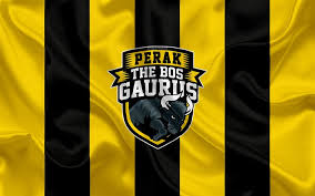 Customize and personalise your desktop, mobile phone and tablet with these free wallpapers! Download Wallpapers Perak The Bos Gaurus Fc 4k Logo Silk Texture Malaysian Football Club Yellow Black Silk Flag Malaysia Super League Ipoh City Malaysia Football Fam League Perak Fc For Desktop Free