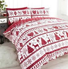 red and white king size duvet cover black set noel quilt sets festive