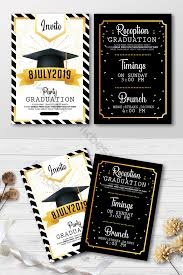 Modern Style Graduation Invite Template Double Sided