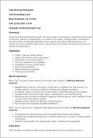 Network Engineer Resume Example. Junior Network Engineer Resume ...