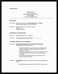 Education Special Education Teacher Resume Examples