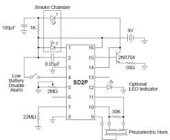 smoke detector circuit diagram the wiring diagram circuits > smoke detector circuit diagram using sd2 ic l41466 circuit diagram
