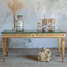 kind vintage coffee table greek key