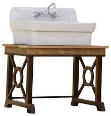 porcelain high back american standard farm sink classical