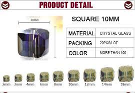 <b>Crystal</b> Square Bead Supply Diy Big <b>Cube Glass</b> 20pcs/lot 10mm ...