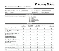 010 Employee Evaluation Forms Templates Template Ideas
