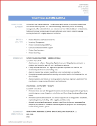 Resume For Volunteer Work Samples - Tier.brianhenry.co
