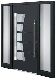 Haustüren Aluminium Schüco Profile Flügelüberdeckend Aussen Und