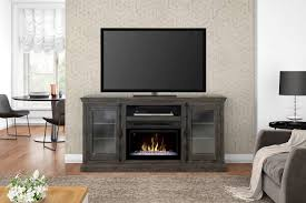 ashton media console gds25gd 1862wg modern technology meets old world charm with the ashton media console electric fireplace with realogs firebox