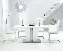grand white high gloss dining table with 4 ivory chair giovani black glass set